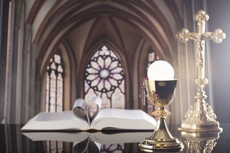 Holy communion. Catholic theme. Catholic holidays – Easter.