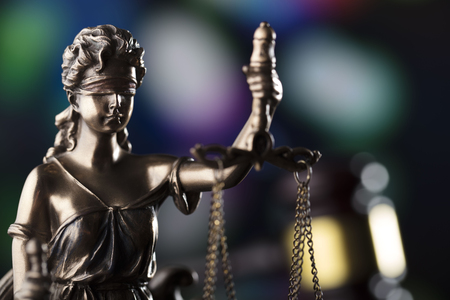 Law theme. Blind justice symbol - Themis. Stockfoto