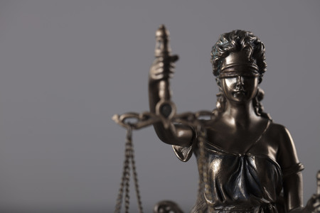Law and justice concept. Themis  - the symbol of blind justice.