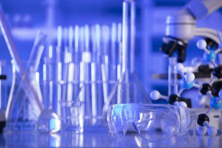 Laboratory equipment composition. Science concept.