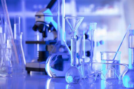 Laboratory equipment composition. Science concept. Stock Photo
