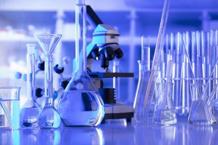 Laboratory equipment composition. Science concept. Foto de archivo