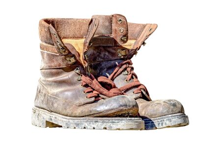 Worn walking shoes with loosened sole Stock fotó
