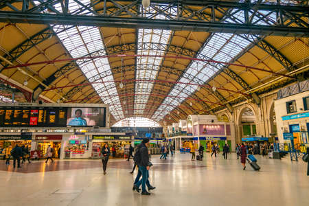 London, UK – May 28.2020: Victoria is an area of central London in the City of Westminster. It is named Victoria Station, which is a major transport hub.