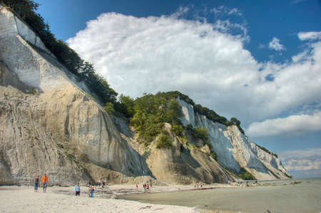 baltic: Cliffs of chalk in Denmark by the Baltic Sea