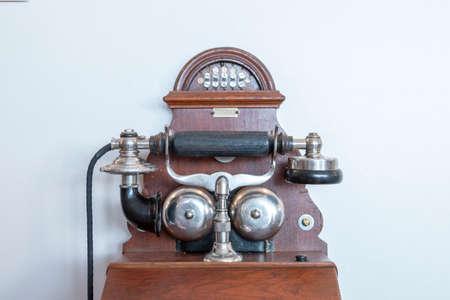 old antique phone Stok Fotoğraf