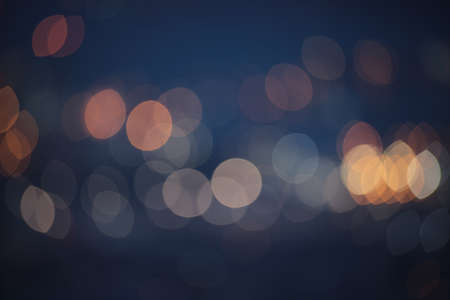 Abstract Yellow, Blue and White bokeh texture on Blue background