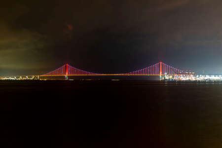 Osmangazi Bridge (Izmit Bay Bridge). IZMIT, KOCAELI, TURKEY. Longest bridge in Turkey and the fourth-longest suspension bridge in the world by the length of its central span.