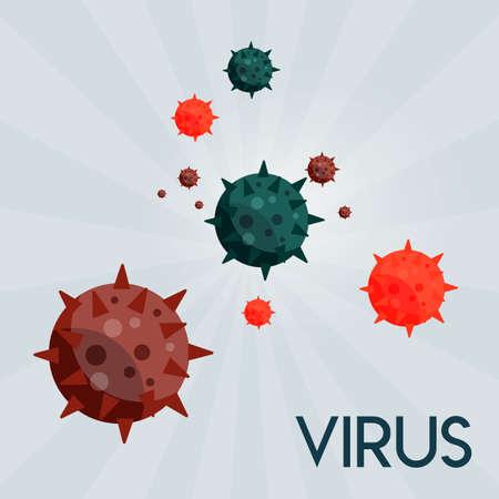 virus themed work