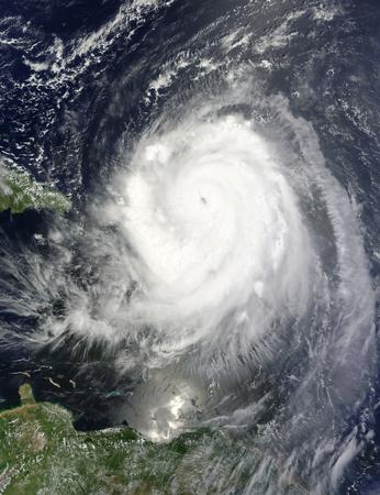 August 30, 2010 - Hurricane Earl swirls over Puerto Rico and the Leeward islands.