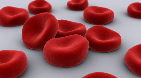 cytology: Conceptual image of red blood cells.