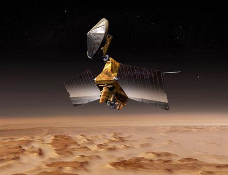 sceince: Mars Reconnaissance Orbiter passes above planet Mars LANG_EVOIMAGES