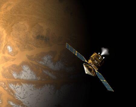 sceince: An artists concept of NASAs Mars Reconnaissance Orbiter LANG_EVOIMAGES