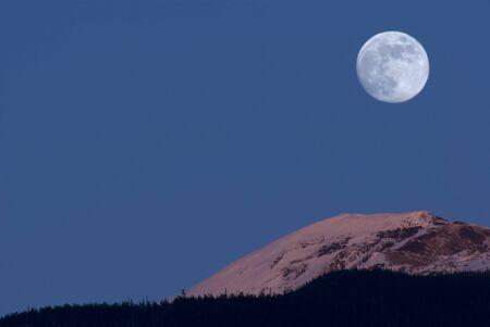 alpenglow: Full Moon at Alpenglow