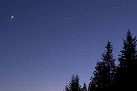 conjunction: Moon,Venus and Jupiter Conjunction