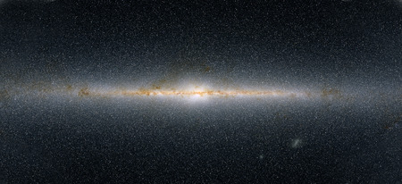 This panoramic view encompasses the entire sky as seen by Two Micron All-Sky Survey