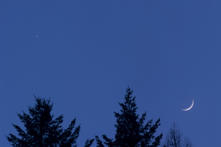 conjunction: Venus and Moon Conjunction