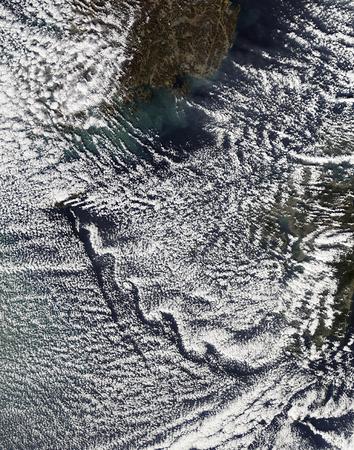 vortices: Cloud vortices off Cheju Do,South Korea