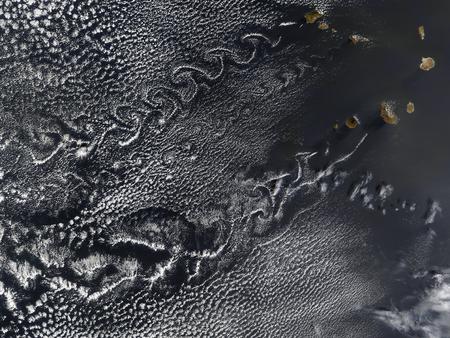 vortices: Cloud vortices over the Cape Verde islands