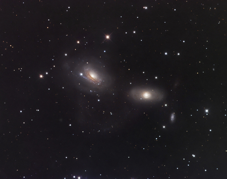 Galaxies NGC 3166 and NGC 3169 in the constellation Sextans LANG_EVOIMAGES