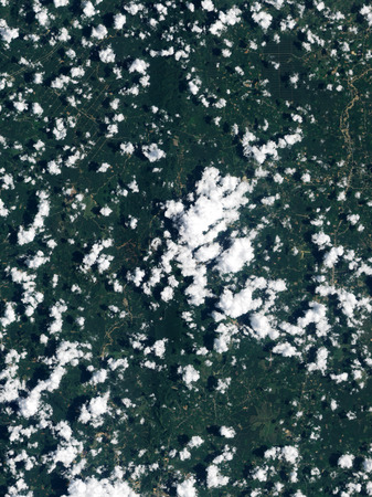 triggered: April 4, 2011 - Satellite view of the Thailand. This image shows intense, rain triggered widespread landslides in the forested hills of the Krabi province on the western side of the Malay Peninsula. The freshly exposed brown earth and swollen muddy rivers