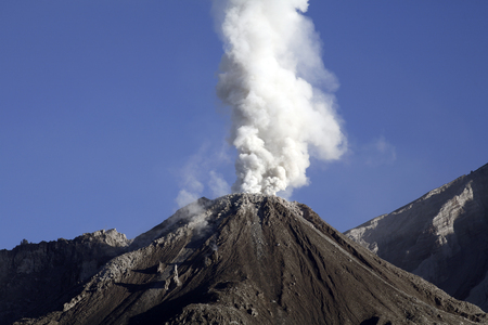 rock formation: December 12, 2005 - Santiaguito eruption, Guatemala.
