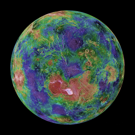 orthography: Venus centered on the North Pole LANG_EVOIMAGES