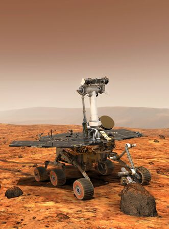 Artists rendition of Mars Rover LANG_EVOIMAGES