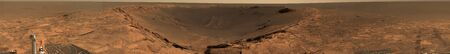 Panoramic view of Mars showing the Endurance Crater LANG_EVOIMAGES
