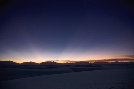 Sunset landscape depicting crepuscular rays LANG_EVOIMAGES