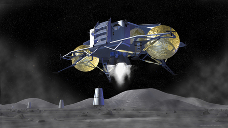 Artists rendering of future space exploration missions LANG_EVOIMAGES
