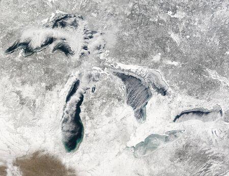 frozen lake: The Great Lakes