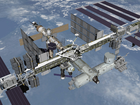 Computer generated view of the International Space Station