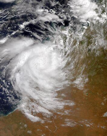 Tropical Cyclone Magda coming ashore in Australia