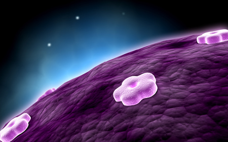 Conceptual image of cell nucleus.