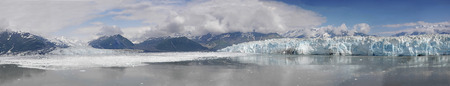 Overview of Disenchantment Bay and the Hubbard Glacier