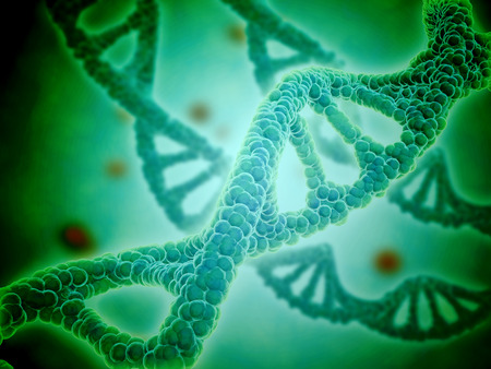 Microscopic view of DNA. LANG_EVOIMAGES