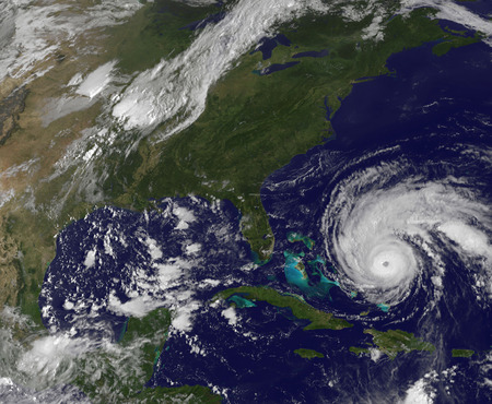 September 1, 2010 - Satellite view of Hurricane Earl and the United States East Coast