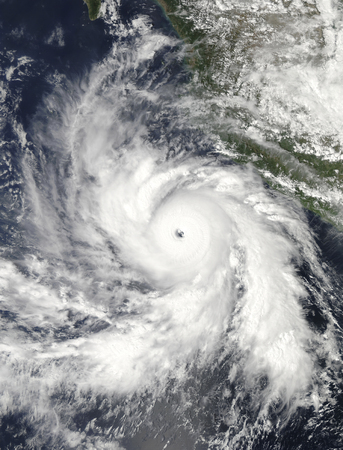 Hurricane Rick hovers over the eastern Pacific Ocean LANG_EVOIMAGES