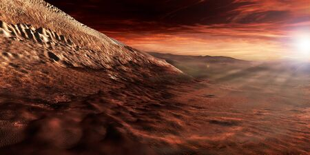 reaches: Dark dunes march along the floor of Gale Crater, resting on the lower reaches of the craters central mound. LANG_EVOIMAGES