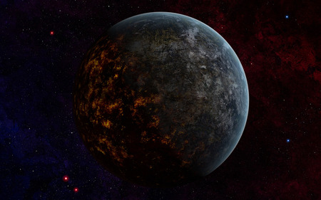 habitable: An extraterrestrial planet. While the dayside looks hospitable, the nightside reveals a hellish world of molten lava.  LANG_EVOIMAGES