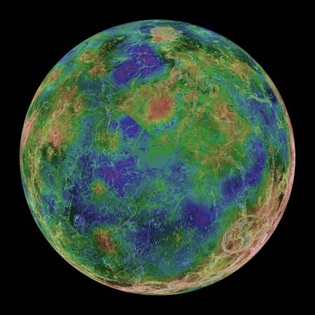 orthography: Venus centered on the South Pole