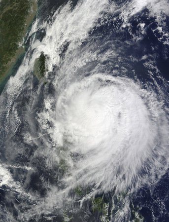 Typhoon Lupit off the Philippines