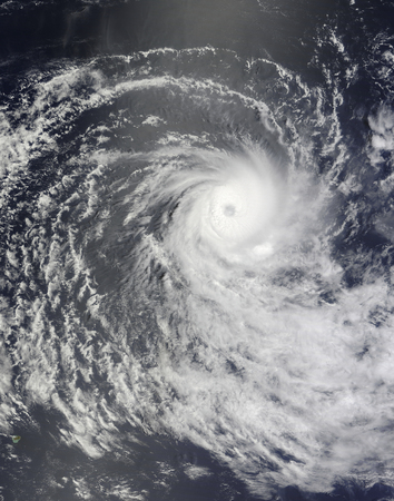 Cyclone Anja over the Southern Indian Ocean