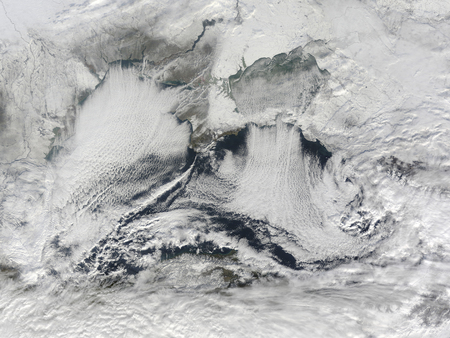 vortices: Cloud formation over the Black Sea