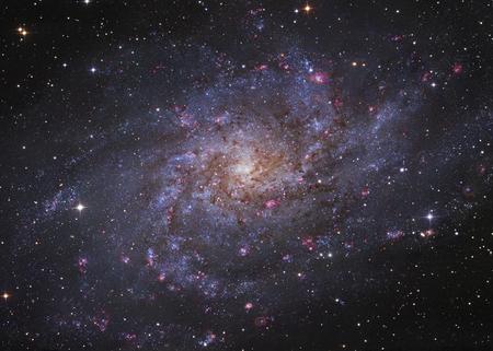 Messier 33, spiral galaxy in Triangulum.