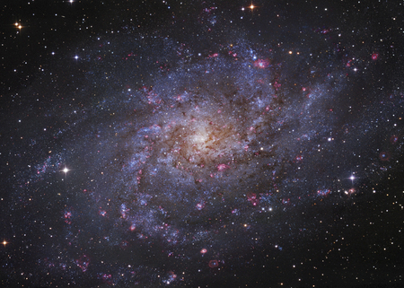 messier: Messier 33, spiral galaxy in Triangulum.