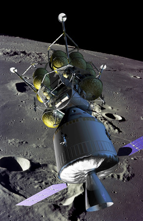 rendition: Artist rendition of a new spaceship to the moon