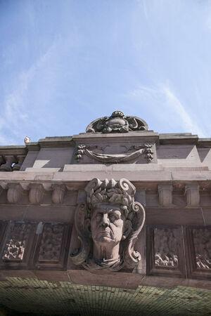 u bahn: sculpture under the bridge in berlin