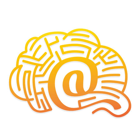 web solutions - brain with labyrinth Vector